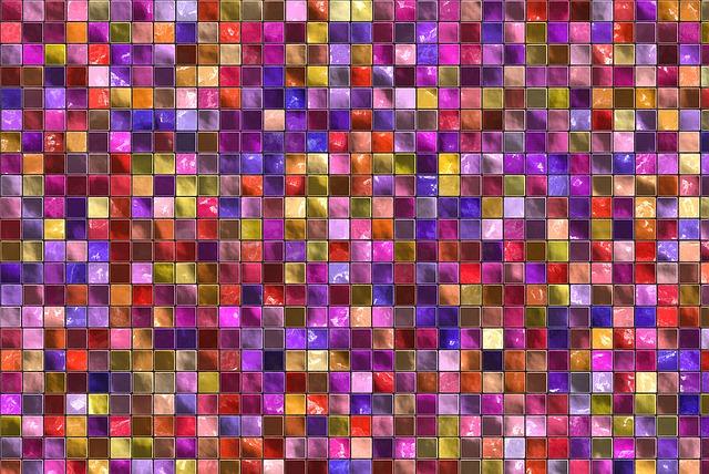 Mosaico colores reciclados marcos de espejos fotos manualidades materiales para decorar espejos