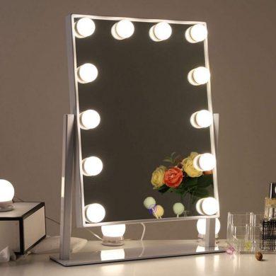 espejo con luz maquillaje