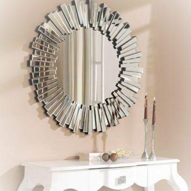 espejo sol moderno decoracion recibidor imagen