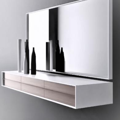 mueble espejos recibidor decoracion