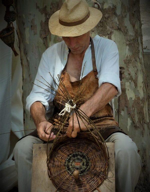 Mimbre artesano foto trabajo