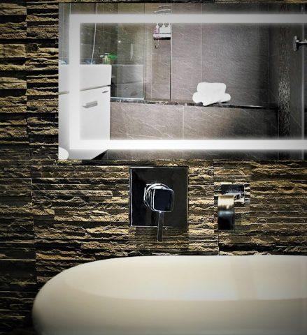 baño led espejo iluminacion