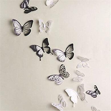 adhesivos mariposas flores aves para manualidades fáciles y decoración de interiores