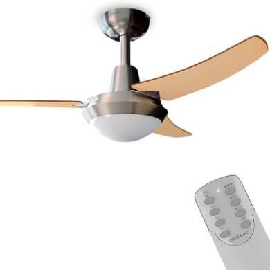 ventiladores silenciosos con mando a distancia luz led ahorro de energía electrica oferta compra desde casa