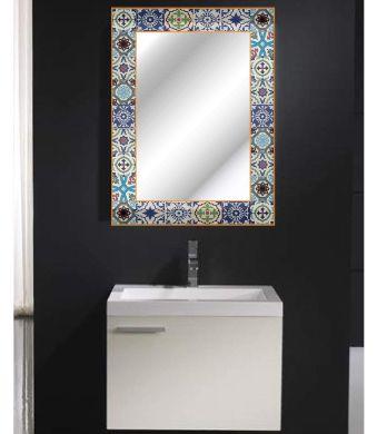 juego de bano espejos decorado vintage retro rustico