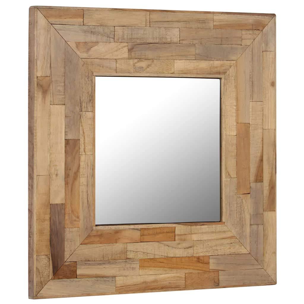 espejo decorado hecho a mano con trozos de madera reciclada manualidades para niños