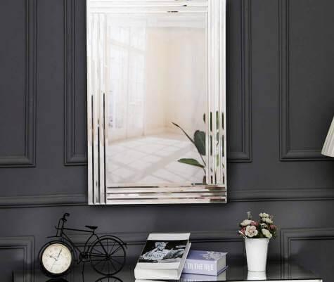 espejo biselado triple decorativo salon comedor pasillo baño