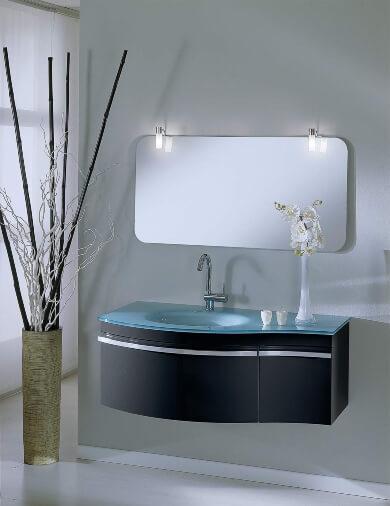 espejo bano luz de led lavabo griferia