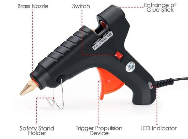 pistola silicona electrica para manualidades y bricolaje
