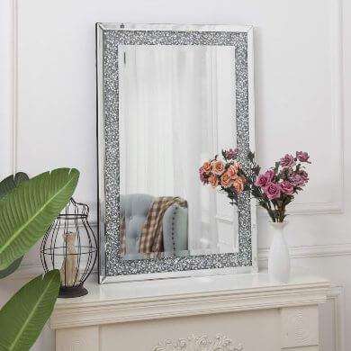 recibidor moderno espejo pared marco para espejo cuadrado grande