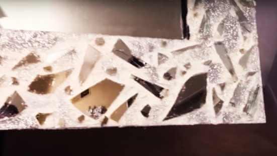 marco espejo reciclado a mano manualidades bricolaje