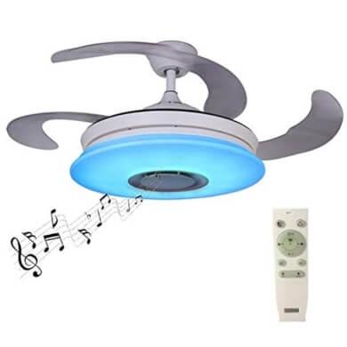 lampara ventilador techo musica mando a distancia dormitorio salon comedor cocina local comercial hoteles