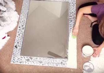 espejo decorado a mano paso a paso bricolaje manualidades