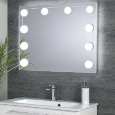 espejos decorativo bombillas led baño bano