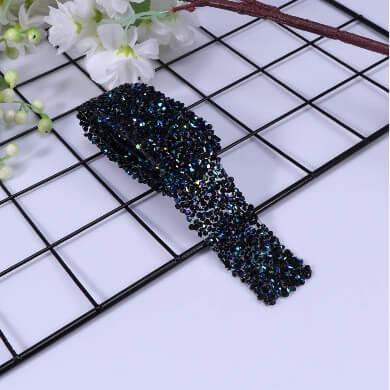 Cinta pedreria imitacion diamante negro