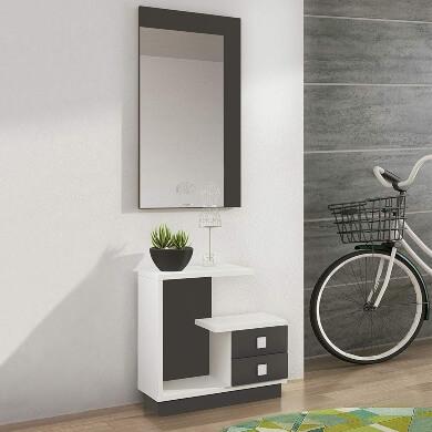 donde comprar muebles recibidor pequeños grandes modernos vintage con espejo