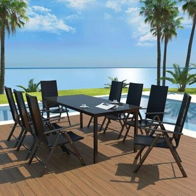 muebles de mimbre sintetico terrazas jardines piscinas verano comedor exterior