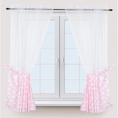 cortinas infantiles nubes dormitorio niño niña bebe