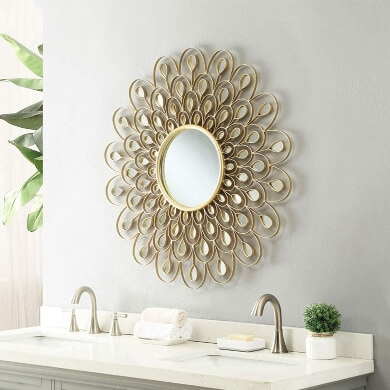 espejos decorativos para baño colores dorado negro plata bronce cobre decoracion interiores