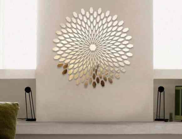 espejo decorativo dorado colocado a mano manualidad bricolage decoracion