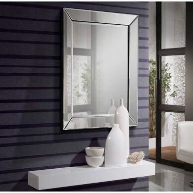 espejo decorativo biselado salon comedor dormitorio baño restaurante hotel