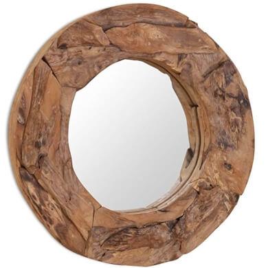 Espejo rústico decorativo con marco de madera natural decoracion de interiores exteriores baño salon recibidor