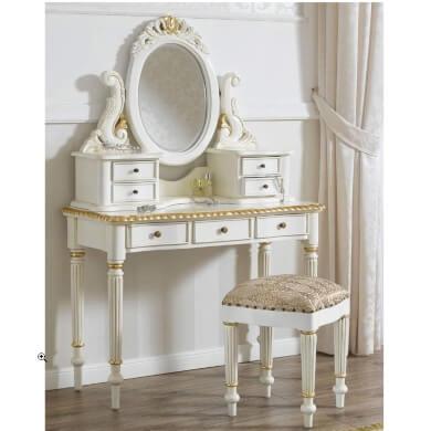 tocador victoriano espejo decorativo estilo reina victoria para dormitorio