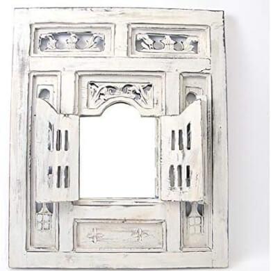 Espejo Decorativo Ventana Oriental en Madera Estilo Moucharabieh