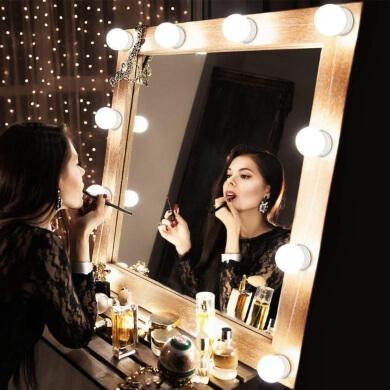 espejos con luz led maquillaje peluqueria barbería salón de belleza