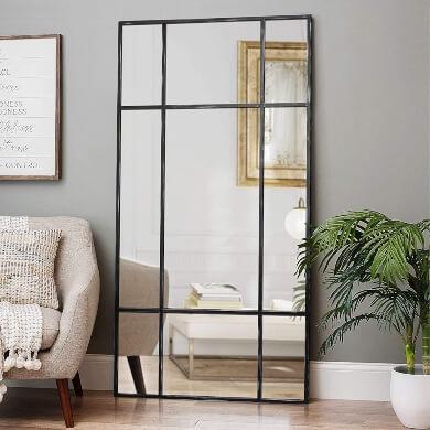 espejo diseño modelo unico grande comedor elegante económico regalo cuadrado pared suelo salon moda tendencia decorativa