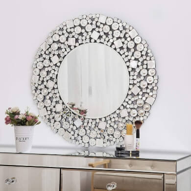 espejos marco mosaico cristal cerámica modelos moda diseño decorativos