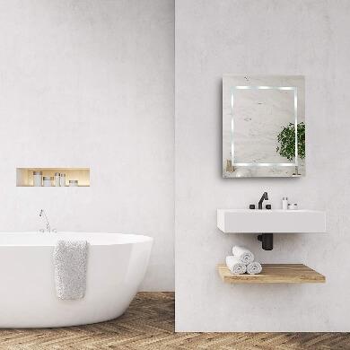 espejos para baño con luz led maquillaje peinado