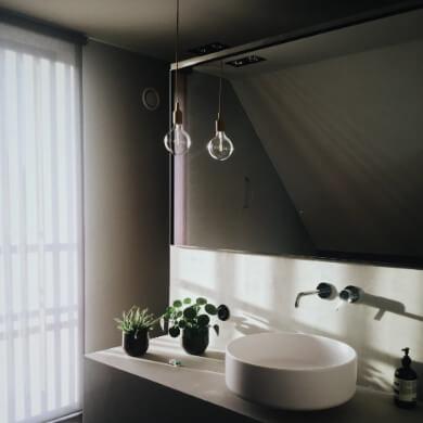 espejo de baño sin marco grande moderno biselado