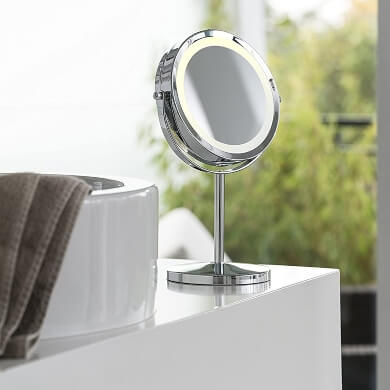 Espejos de maquillaje con Luz Led de mesa ventosa pared extensible x10 x20 x30 ojos pestañas cejas barba depilación efeitado barbería peluquería uñas