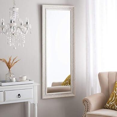 Espejo de pared decorativo color blanco