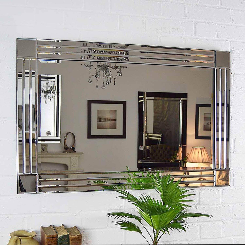 decorar salon comedor con espejo biselado en oferta
