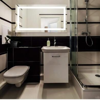 espejo decorativo baño luz led iluminación ahorro energético barato