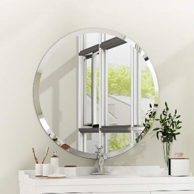 espejo redondo decorativo para baño recibidor salon hotel restaurante
