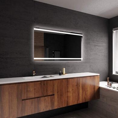 espejo baño pared sin marco luz led