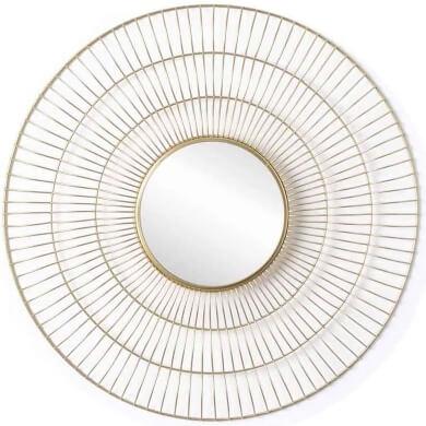 espejos dorados redondos decoracion de interiores hogar revista decoracion salones comedores dormitorios banos