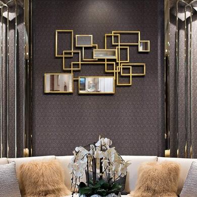 espejos dorados decorativos salon comedor dormitorio baño hoteles restaurantes decoración revista oportunidades ofertas