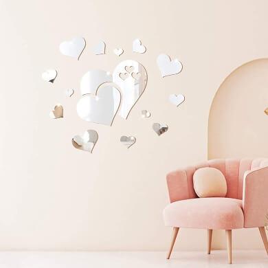 Espejos adhesivos decorativos pared economicos baratos dormitorio infantil seguro envio gratis