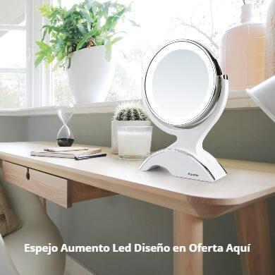 Espejos de Aumento de Diseño Luz LED baño maquillaje peinado barba rasurado depilación ojos cara pelo belleza moda 360 grados x10 x20