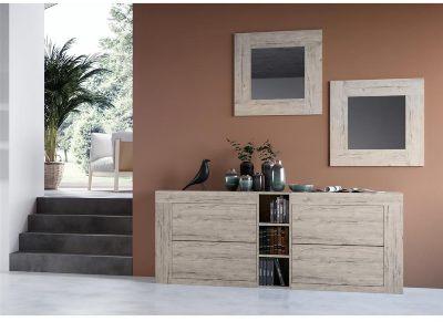 espejo mueble moderno madera decora casa