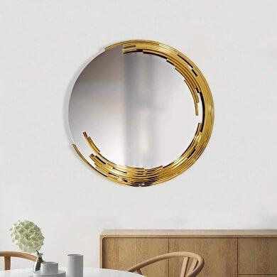 Espejos de parede de diseño para comedores pequeños espacios reducidos poca luz salones salas de estar