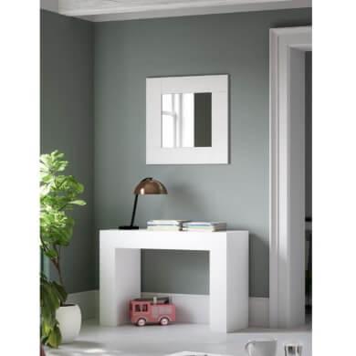 estilo nordico minimalista moderno espejo blanco accesorios decorativos interiores hogar oficina local comercial