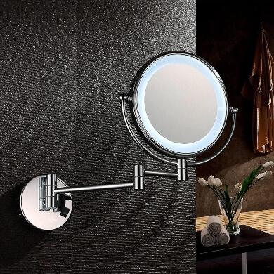 Espejo de pared con luz led extensible ideal para baños peluquerías salones de belleza