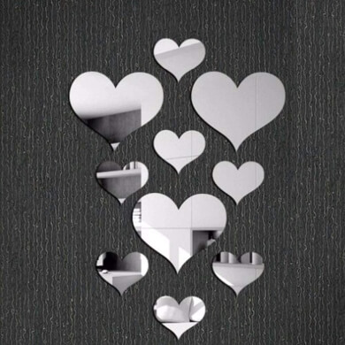 espejos decorativos de pared formas tamaños modelos estilos adhesivos pegatinas plástico