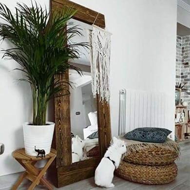 espejos decorativos de madera mejor espejo estilo rustico de madera