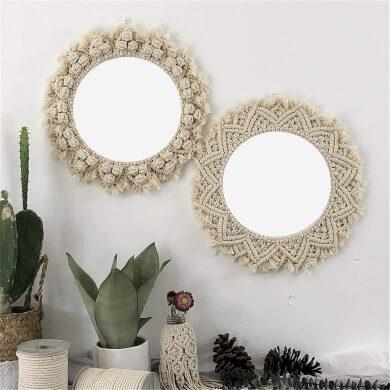 Materiales Para Decorar Espejos Espejos Decorados A Mano
